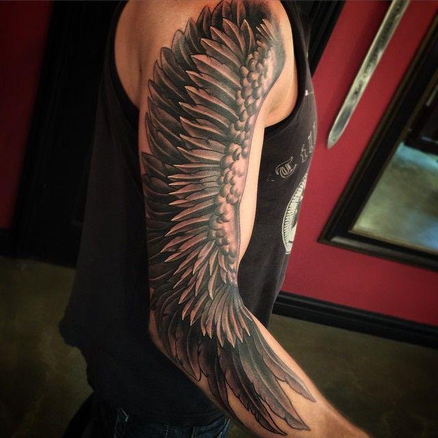 Angel Wing Tattoos for Men   Tattoo, Tatoo and Tatting