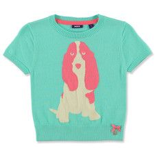 Mexx Kids Girls Knitted Pop Puppy Sweater