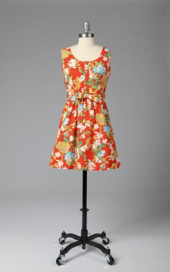Button Front Garden Dress