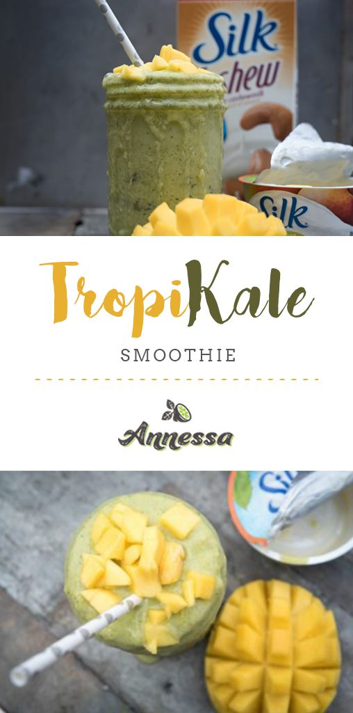 a thick, creamy smoothie that taste like tropical kale ice cream!  VEGAN, SMOOTHIE, MANGO, WEIGHT LOSS, GLUTEN FREE, KALE, FRUIT, BREAKFAST