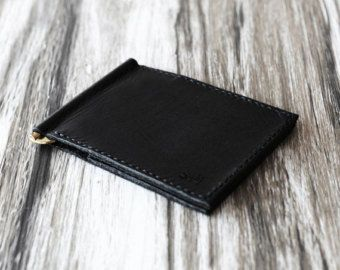 Personalized Leather Business Card Holder 110 Bussiness Case Wallet Slim Minimal Dark Brown