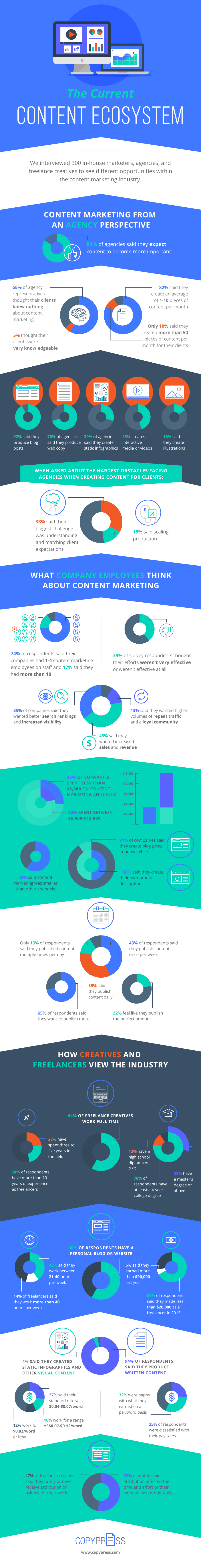 The Current State of Content Marketing (infographic)