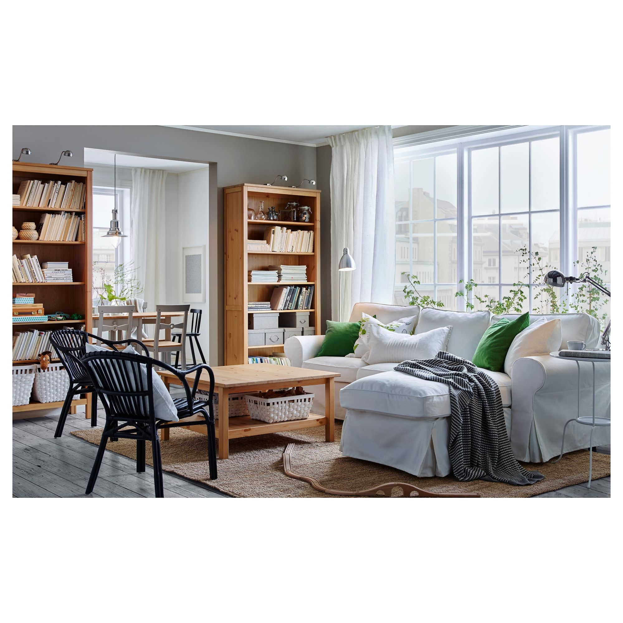 Hemnes Bookcase  Light Brown  Ikea Inspiration