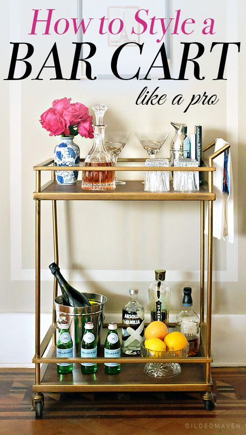 12 Best Bar Cart Ideas - How To Make Diy Custom Bar Cart | Bar carts ...