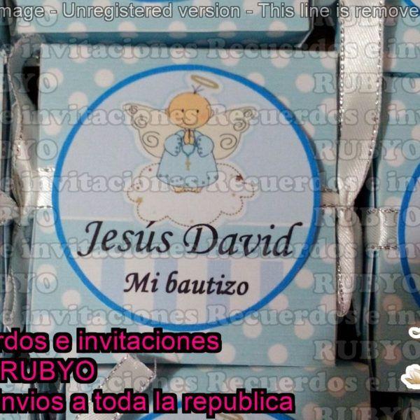 Recuerdos o invitaciones para bautizo. Envíos a todo México. recuerdosrubyo.com.mx