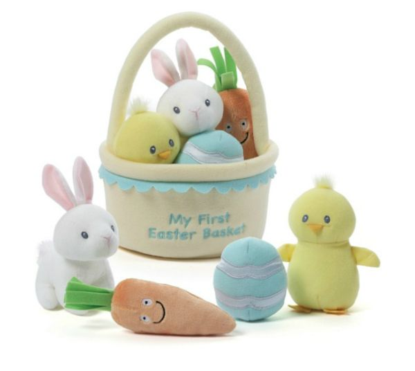 Babys first easter basket 13 sweet yet candy free fillers babies negle Gallery