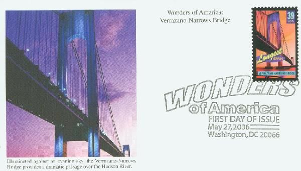 U.S. #4052 – The Verrazano Bridge was honored in the Wonders of America set.