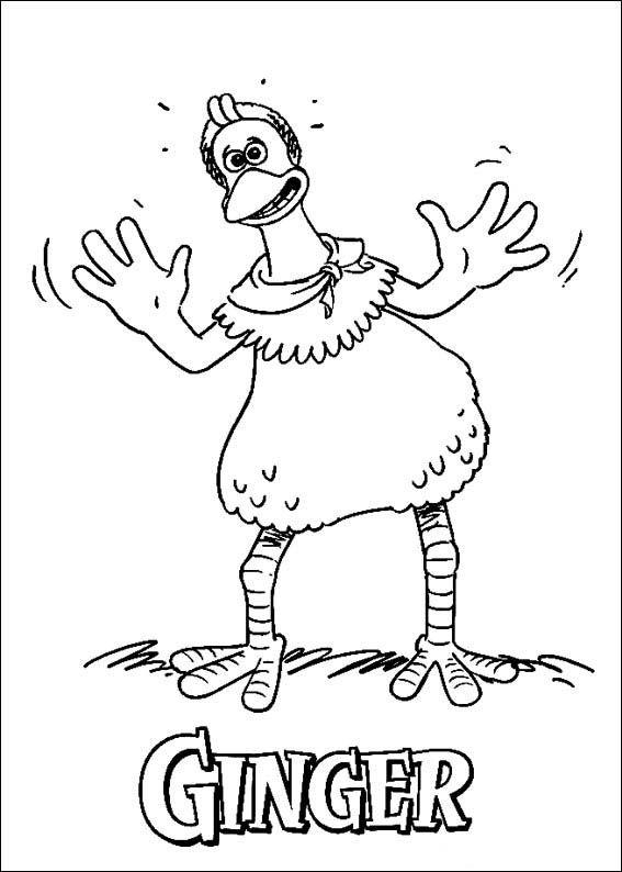 Dibujos para Colorear Chicken Run: Evasión en la granja 4 | Dibujos ...