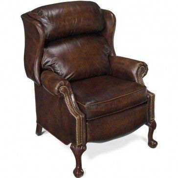 Bradington Young Ball Claw Reclining Wing Chair Reclining Wing Chair Brown Leather Chairs Bradington Young Leather Sofa