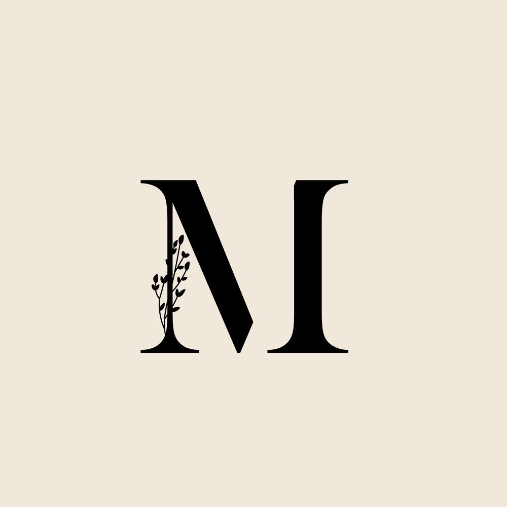 M Botanical Logo Mark In 2021 Logo Design Branding Website Design Identity Design Logo