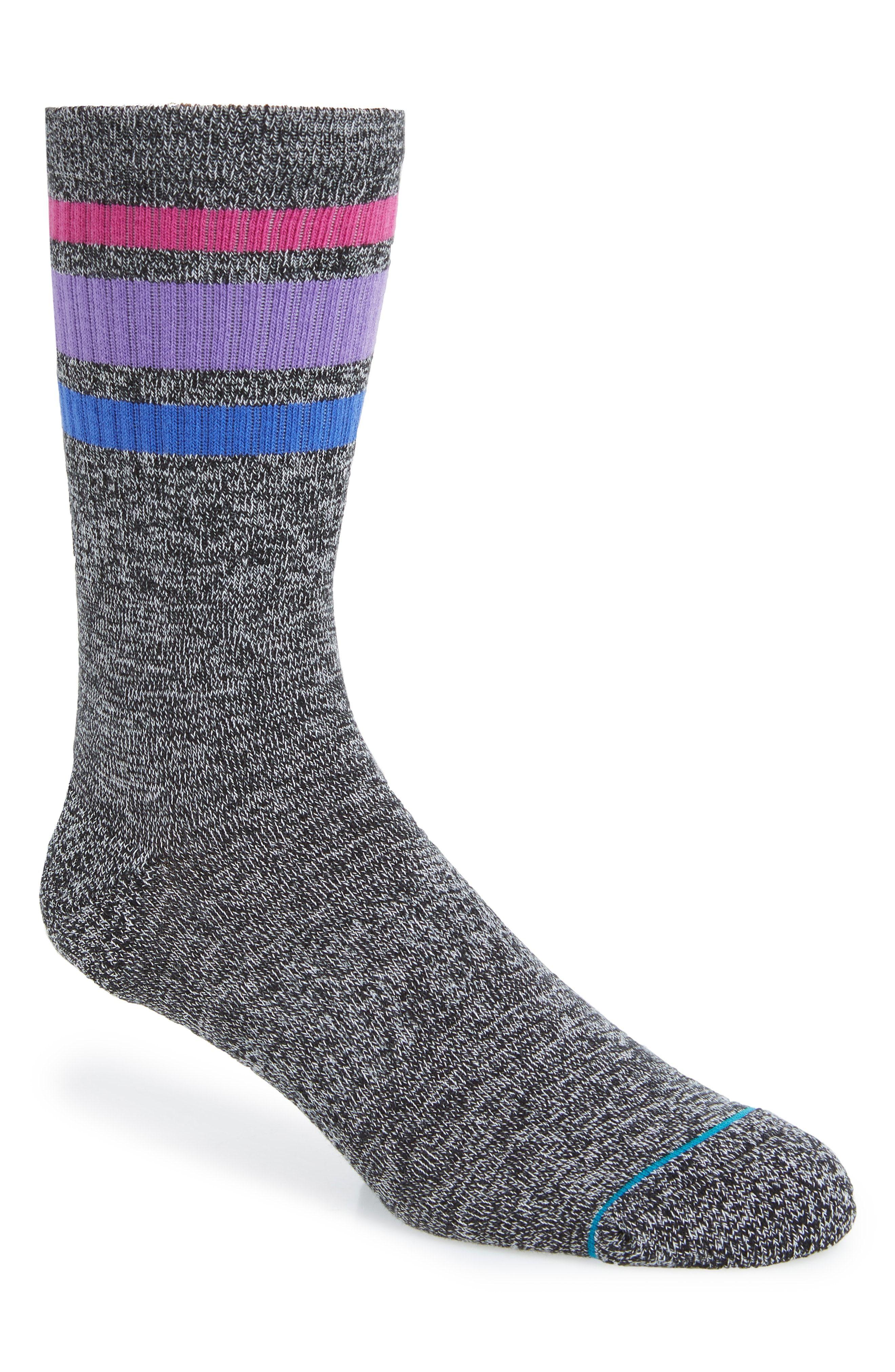 Stance Boyd 4 Crew Socks in Heather Grey
