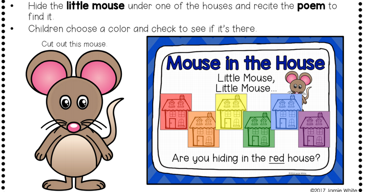 Mouse House Carpet Game Pdf Toddlers Preschool Games