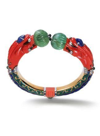 """""""Bracelet rigide Chimères, Cartier Paris, 1928. """""""