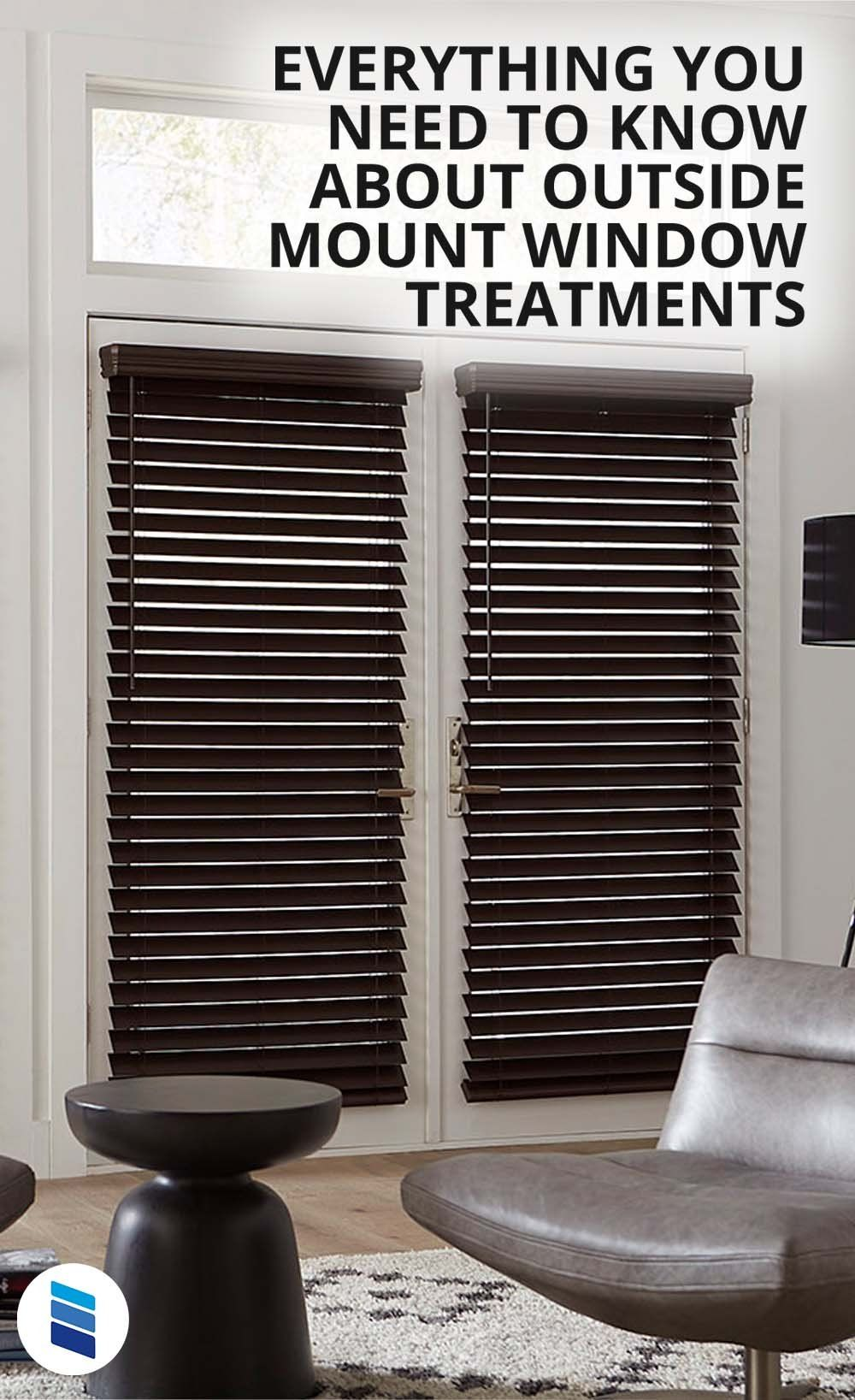 Everything You Need To Know About Outside Mount Window Treatments Blinds Com In 2020 Faux Wood Blinds Window Treatments Window Treatments Living Room