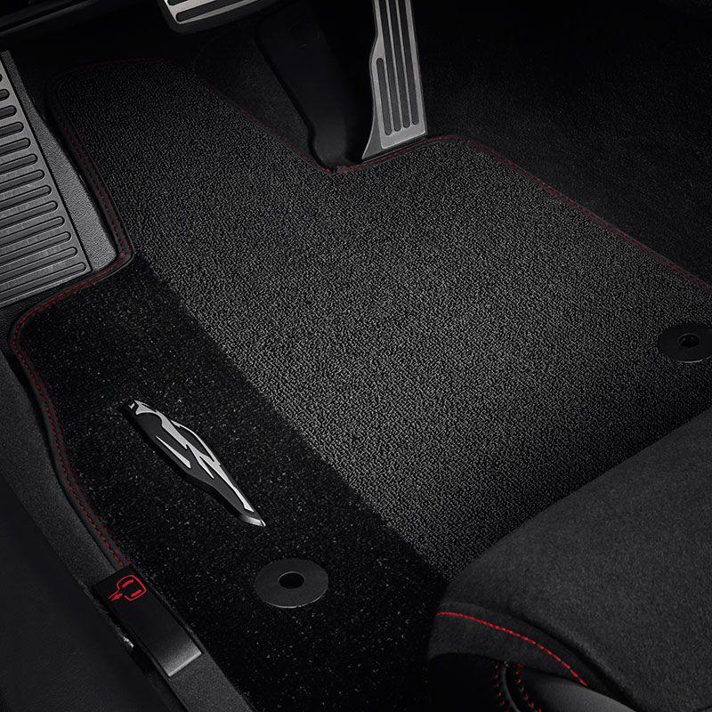 2020 C8 Corvette Stingray Front Floor Mats Premium Carpet Black