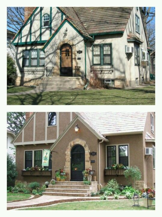 Hgtv Curb Appeal Tudor Before Amp After Outdoor Home
