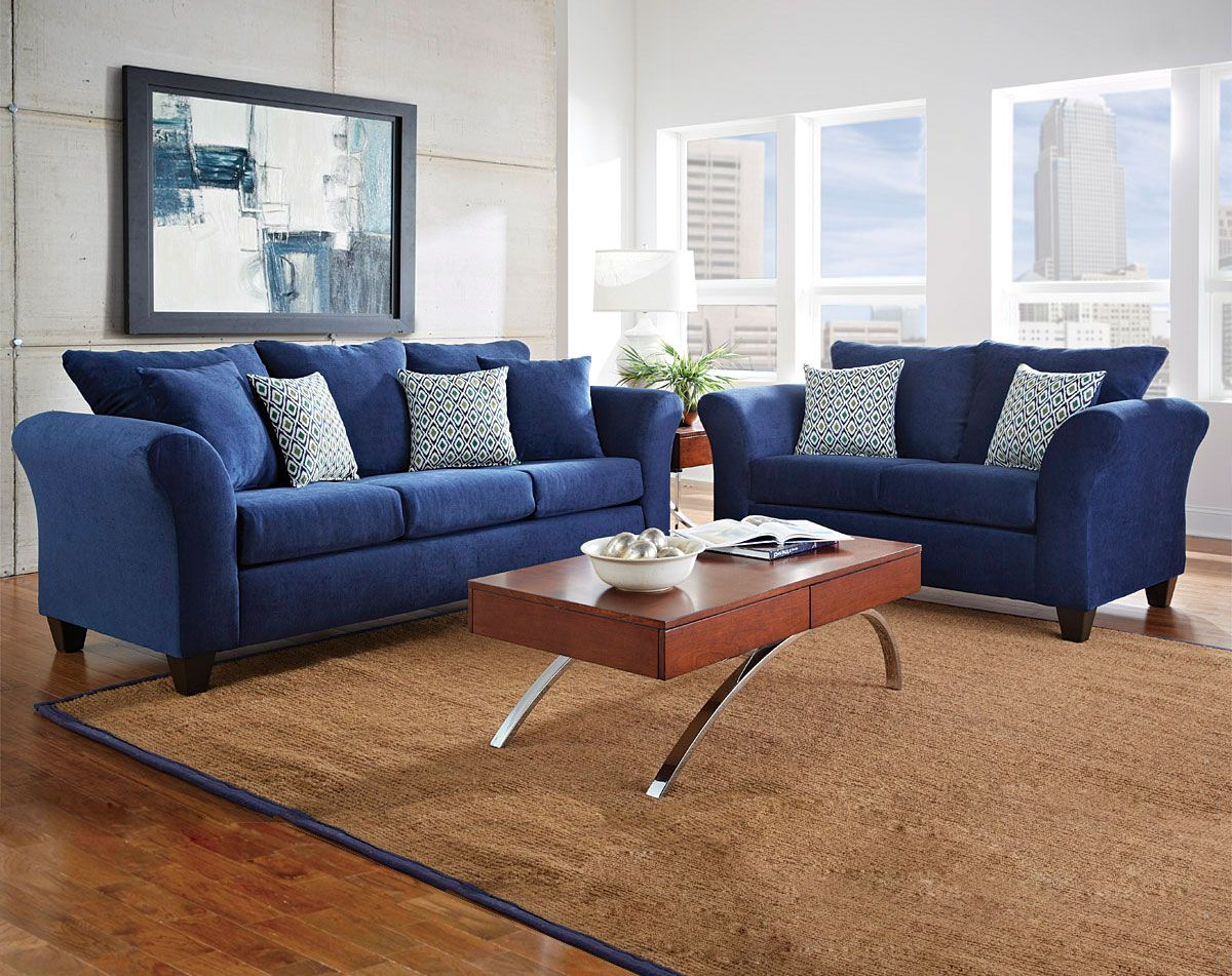 Royal Blue Living Room Furniture