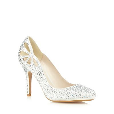 No 1 Jenny Packham Women's Ivory High High Studded Heel Shoes Court Shoes Heel Shoes