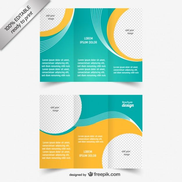 Vector Trifold Brochure Template Free Vector Free Trifold - Publisher brochure templates free