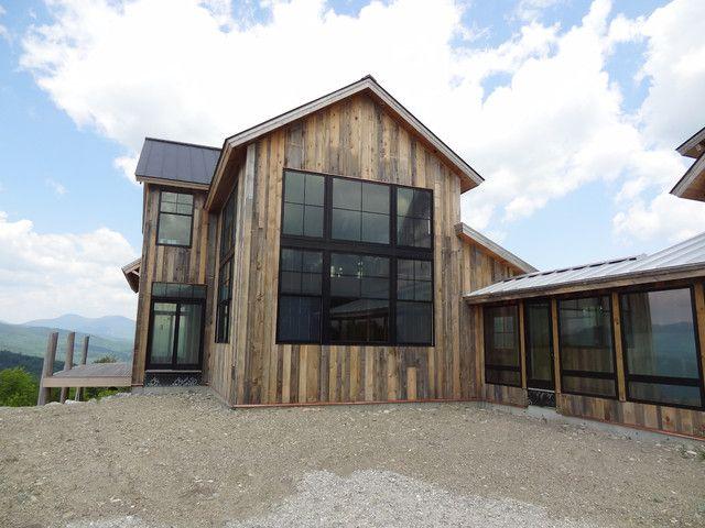 Smart House, Old Barn Wood, Black Window Frames, And