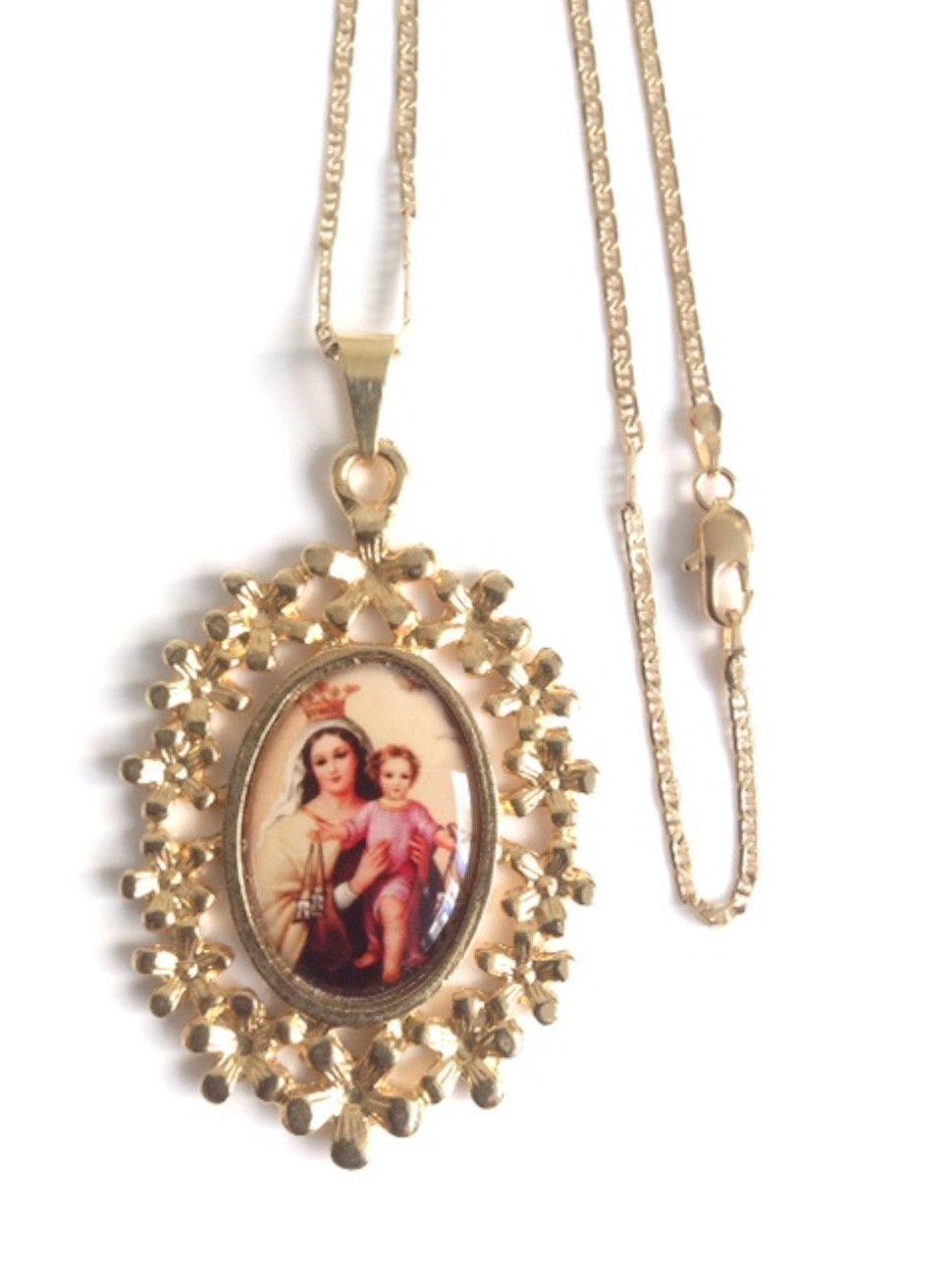 Our Lady of Mount Carmel Gold Medal - Virgen del Carmen