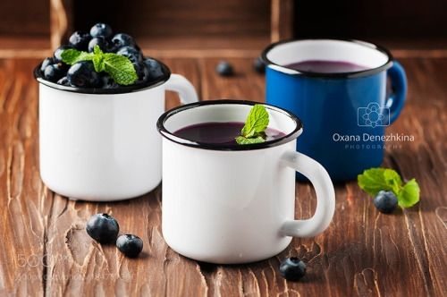 Russian kissel with blueberry and mint by OxanaDenezhkina  IFTTT 500px