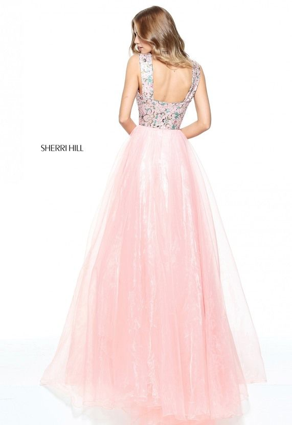 Organza a-line with a printed tank bodice.