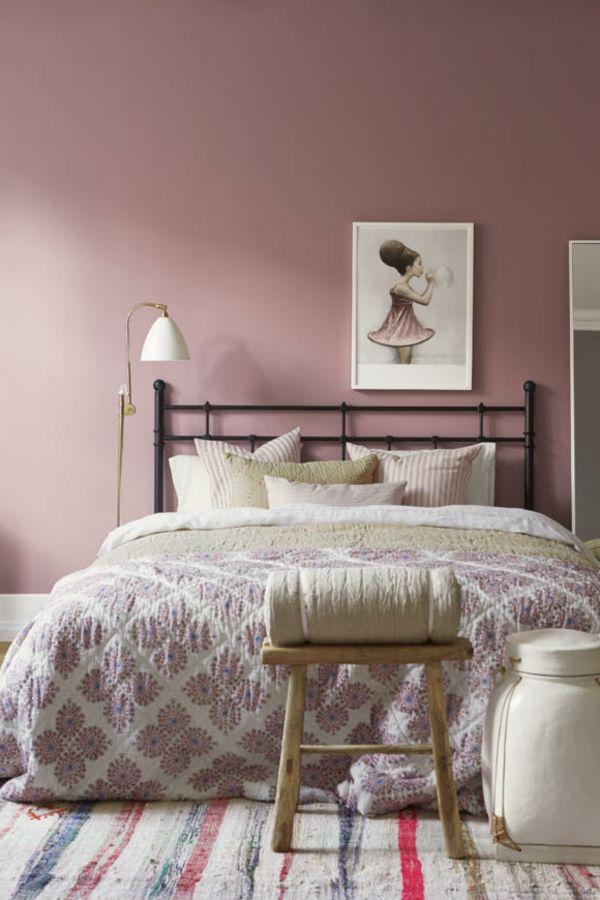 Altrosa Wandfarbe Den Zeitgeist Geniessen Archzine Net Altrosa Wandfarbe Wandgestaltung Schlafzimmer Altrosa Schlafzimmer
