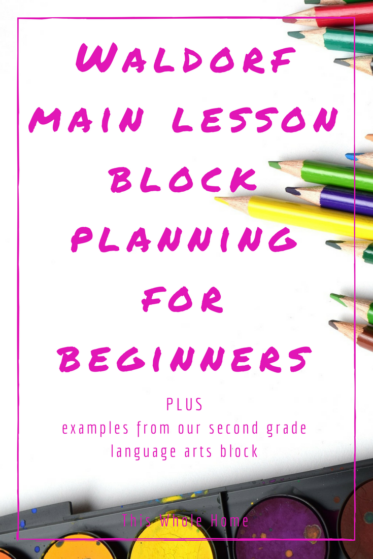 waldorf homeschool  how to plan a main lesson block