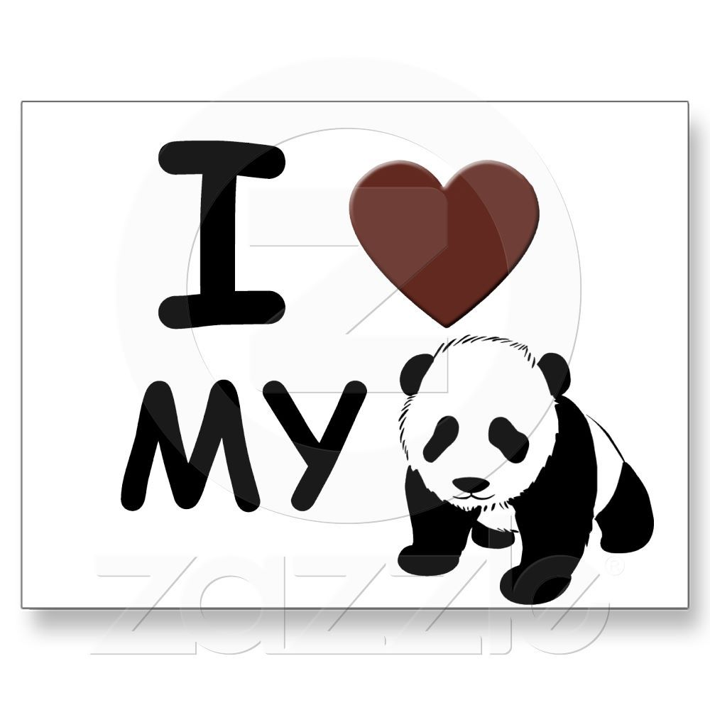 949dbfe7e3 I LOVE MY PANDA BEAR POSTCARD