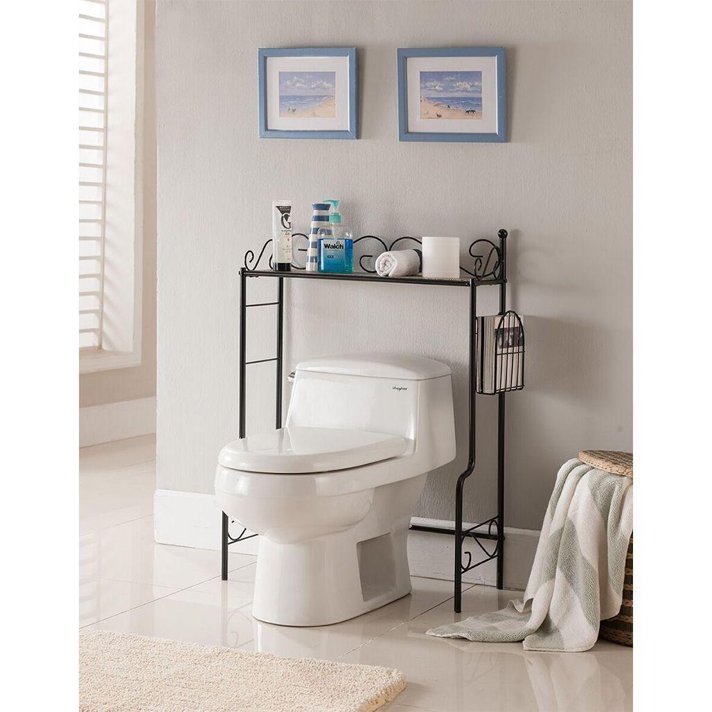K&B Over the Toilet Shelf (White Finish - White) | Toilet shelves ...