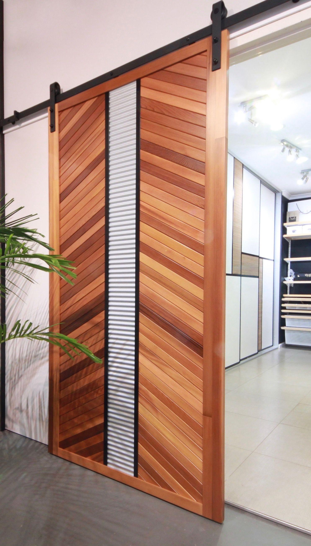 Whilst The Top Hung Barndoor Style Is Nothing New Our Interpretation Certainly Is We Have Up Cycl Modern Barn Door Sliding Door Design Custom Sliding Doors
