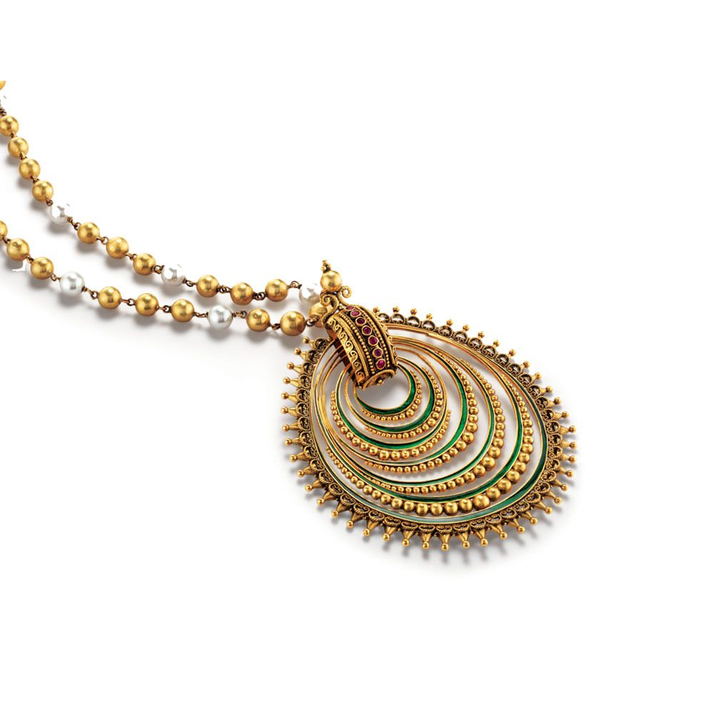Latest gold pendant designs   Glamour   Pinterest   Gold pendant ...
