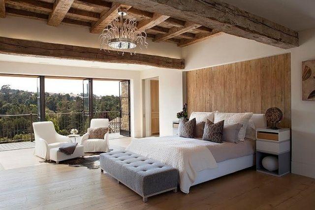 schlafzimmer holz wand boden decke sichtbare dachsparren Wohnung - schlafzimmer einrichten 3d