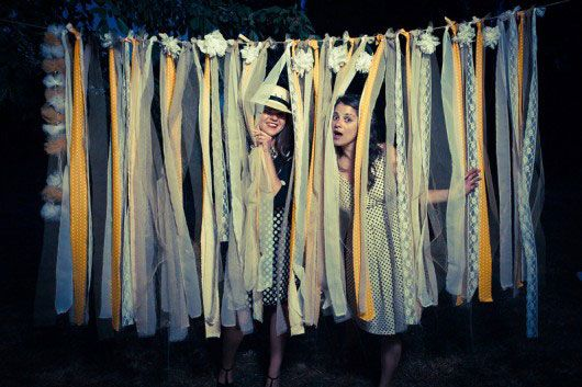 'i do' it yourself: DIY project: ribbon photobooth backdrop