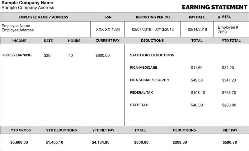 Pay Stub Template Payroll Template Best Templates Templates