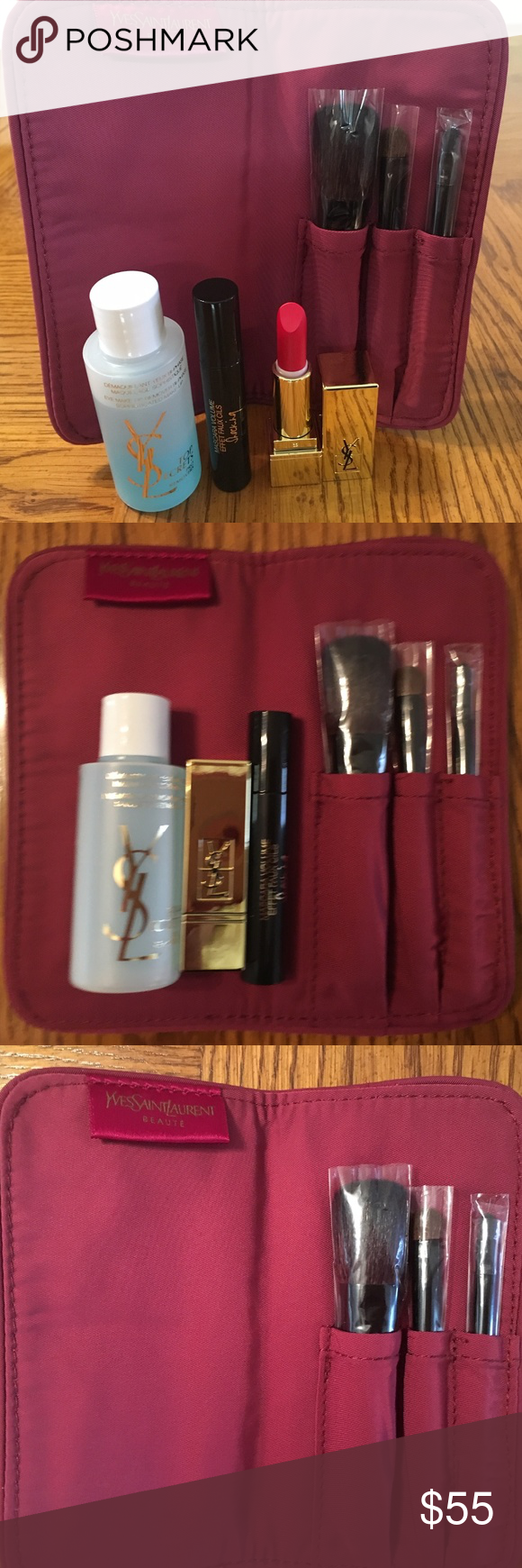 Yves Saint Laurent Brush/Mascara/Lipstick Bundle Hey