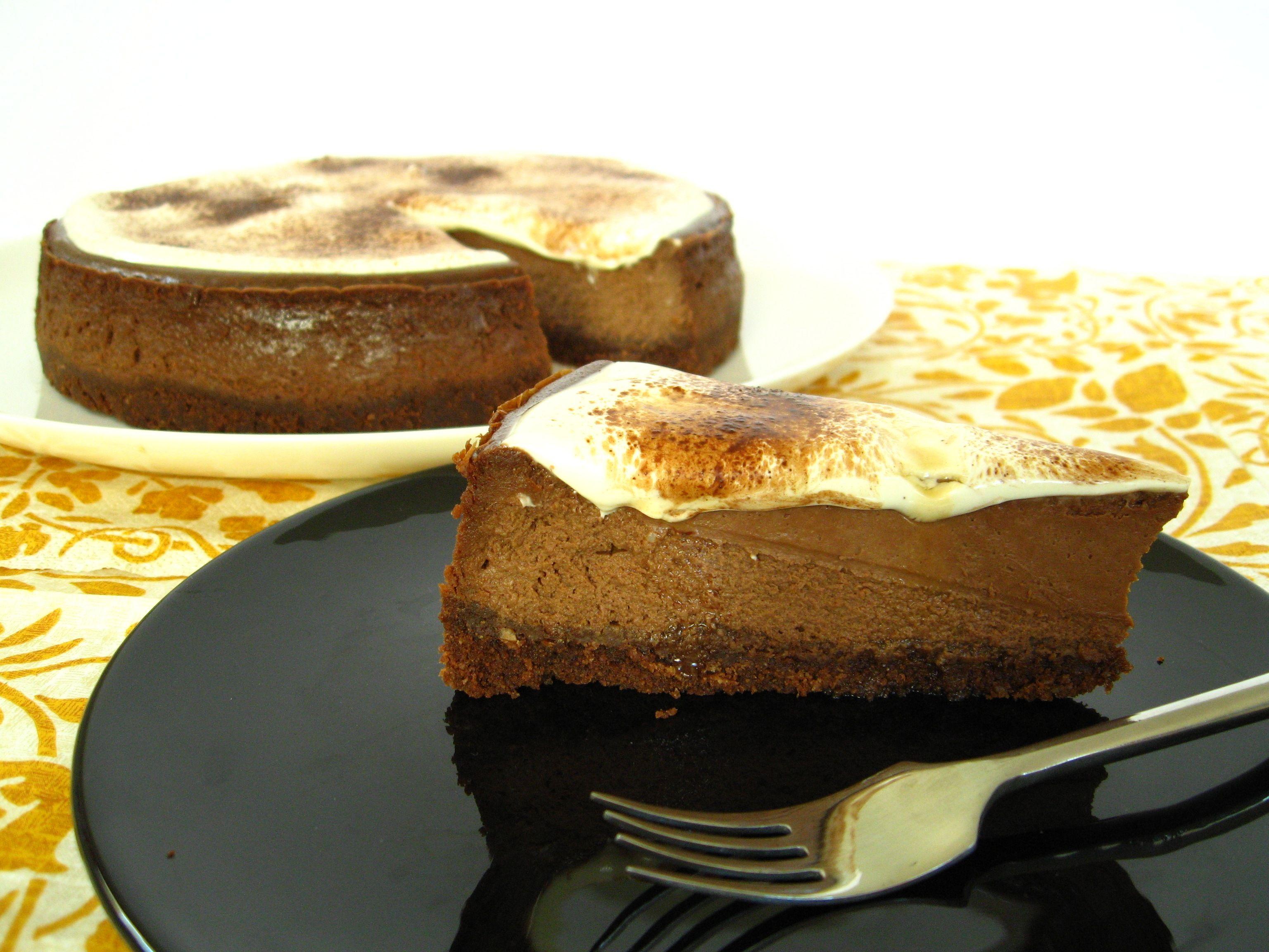 Chocolade Cheesecake met Tia Maria.