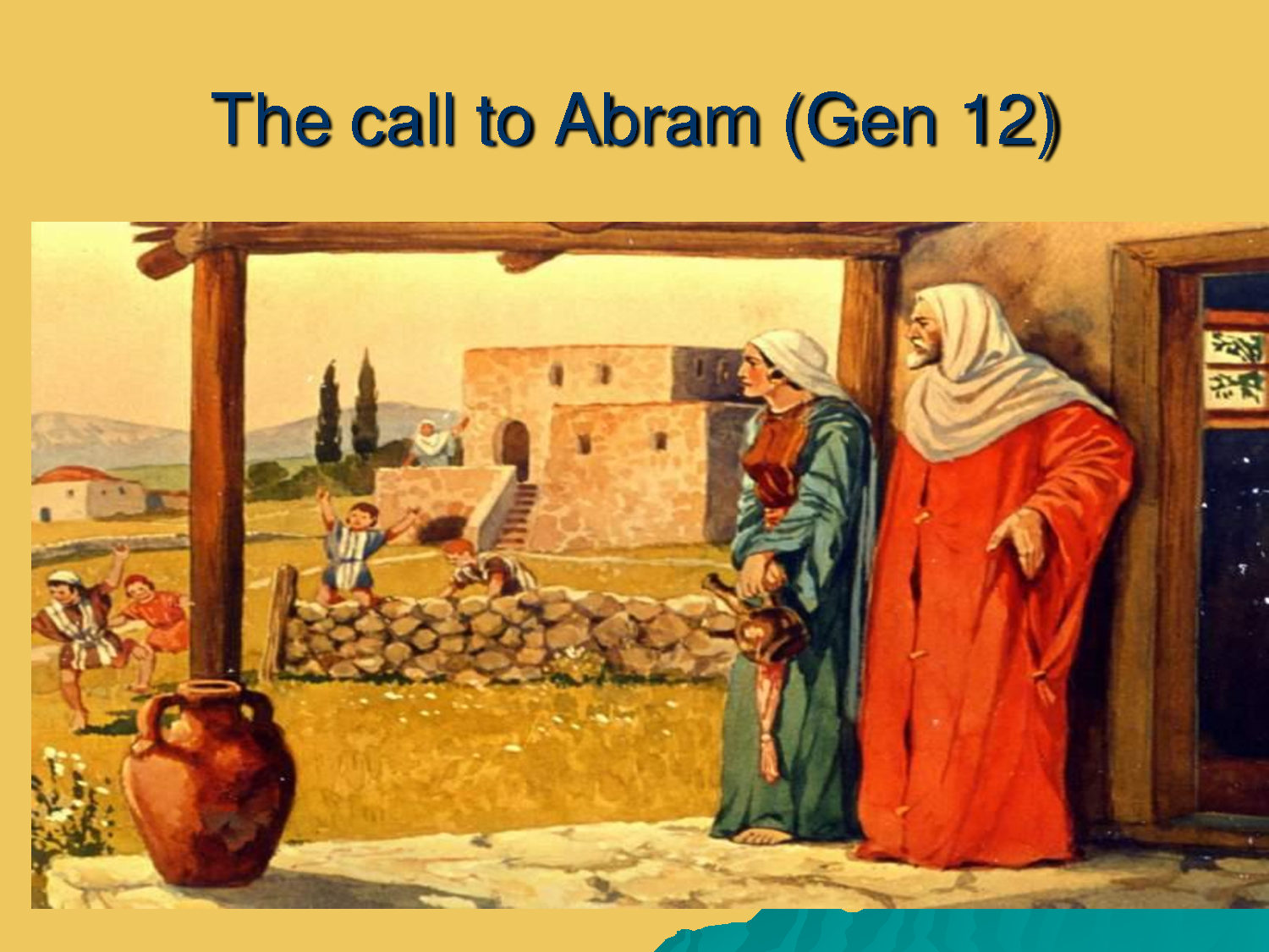 god calls abram picture story of the bible pinterest picture