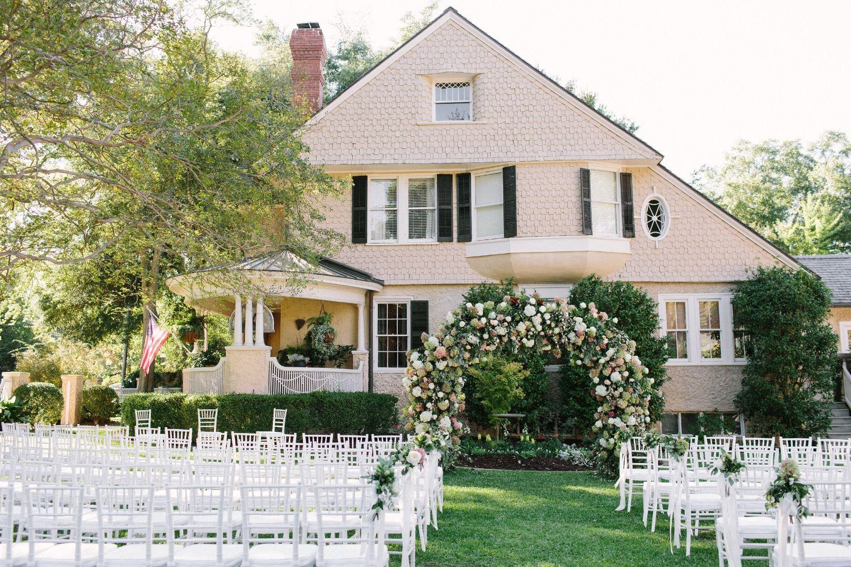 romantic u0026 elegant backyard wedding ceremony floral and event