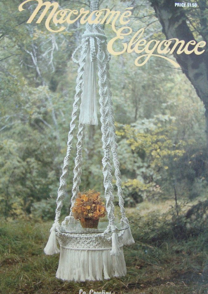 Macrame Pattern Book/ Vintage Macrame Elegance/ hanging table, plant hangers, towel hanger, swing, wall hanging, owl, retro/ Allergy Alert