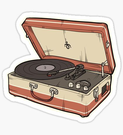 Music Stickers Music Stickers Vintage Record Player Bubble Stickers