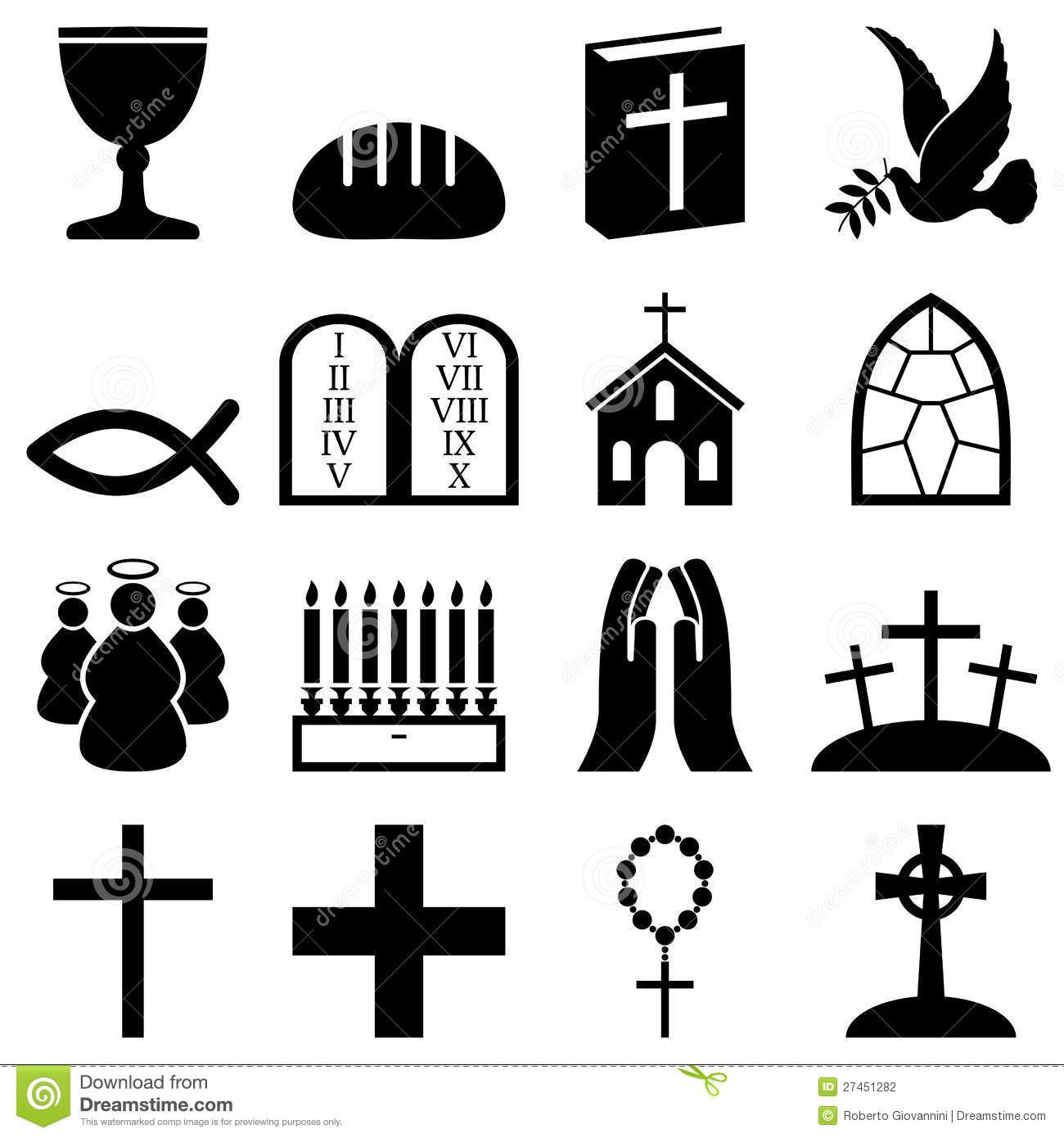Illustration about Collection of 16 black and white