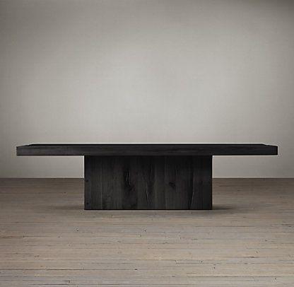 Reclaimed Russian Oak Plinth Table | Restoration Hardware
