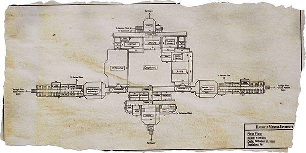 Asylum From The Designer Of Scratches Blueprints Asylum Floor Scale