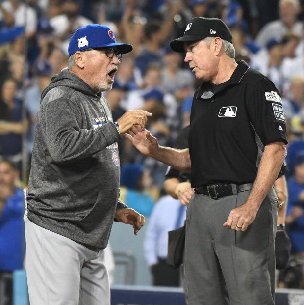 October 14 2017 Nlcs Game 1 Los Angeles Dodgers Defeat The Chicago Cubs 5 2 Nlcs Baseball Chicago Cubs Manager Jo Chicago Cubs Los Angeles Dodgers Dodgers
