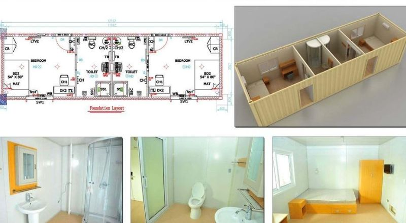 Executive dormitory layout Lower Mattagami River Project for - Plan Maison Sweet Home 3d