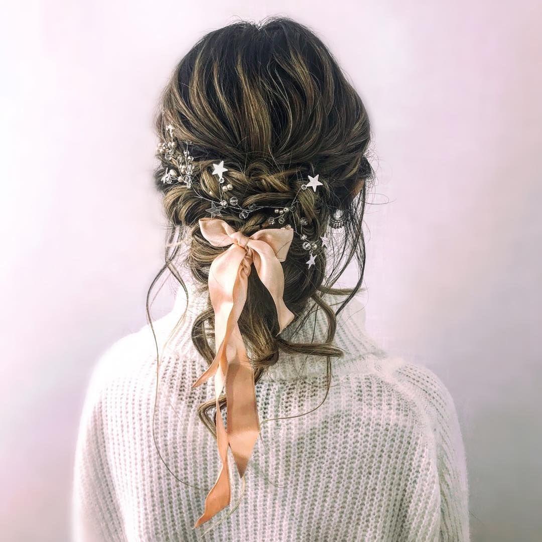Cute braid with bow