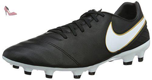 Nike Tiempo Mystic V Firm Ground, Chaussures de Football Homme, Noir/Blanc/Or (Noir/Blanc-Metallic Gold), 40.5 EU