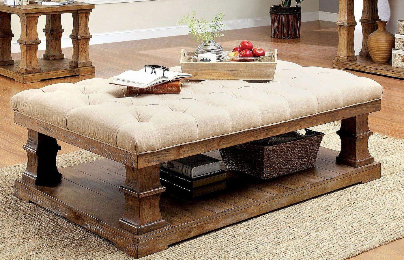 Granard Coffee Table W Cushion Top Fabric Coffee Table Coffee